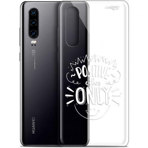 "Extra Slim Gel Huawei P30 (6.1"") Case Design Positive Vibes Only"