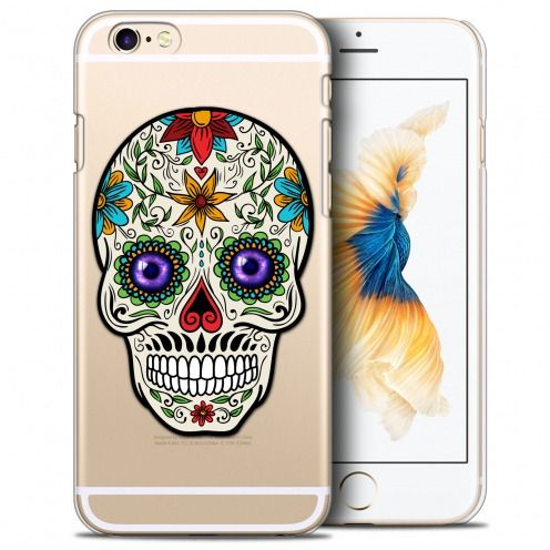 Extra Slim Crystal iPhone 6/6s Plus (5.5) Case Skull Maria's Flower