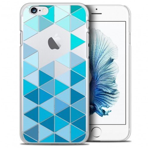Extra Slim Crystal iPhone 6/6s Plus (5.5) Case Spring Blue Triangles