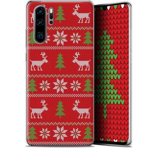 """Extra Slim Gel Huawei P30 Pro (6.47"""") Case Noël 2017 Couture Rouge"""