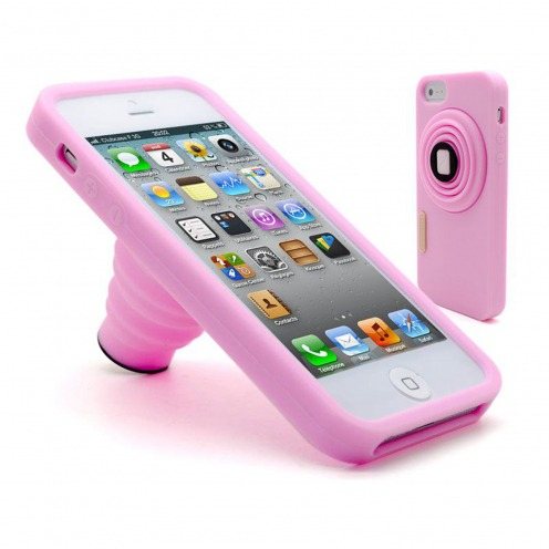 Photo Vintage iPhone 5 stand case pink