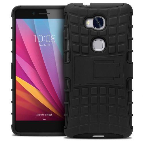 "Shockproof Shell Case ""Spider"" Clubcase ® Huawei Honor 5X Black"