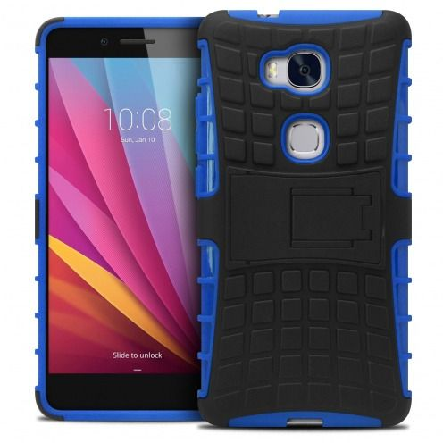 """Shockproof Shell Case """"Spider"""" Clubcase ® Huawei Honor 5X Blue"""