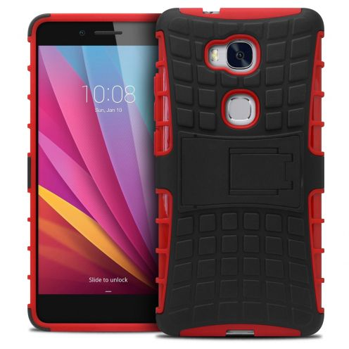 "Shockproof Shell Case ""Spider"" Clubcase ® Huawei Honor 5X Red"