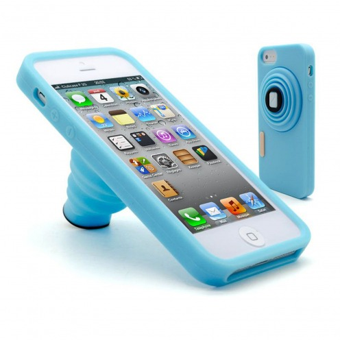 Photo Vintage iPhone 5 stand case blue