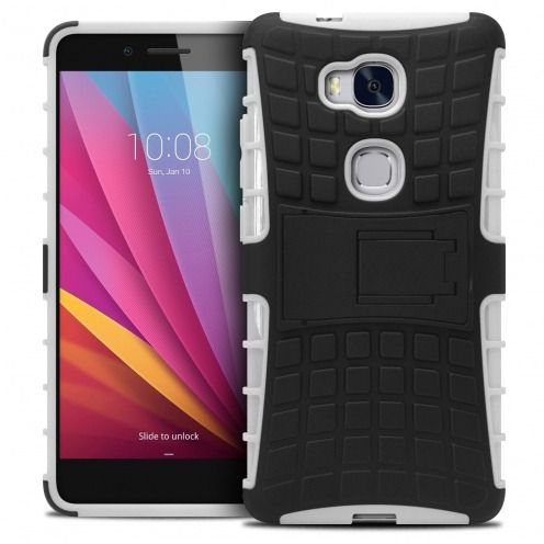 """Shockproof Shell Case """"Spider"""" Clubcase ® Huawei Honor 5X White"""