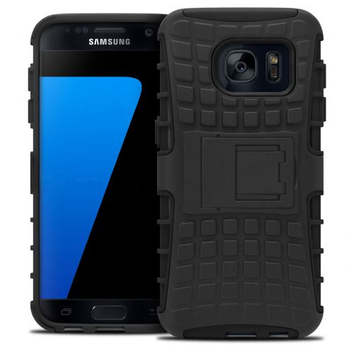 "Shockproof Shell Case ""Spider"" Clubcase ® Samsung Galaxy S7 Black"