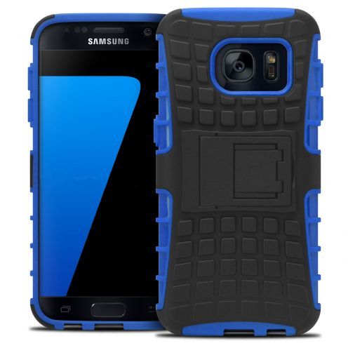 "Shockproof Shell Case ""Spider"" Clubcase ® Samsung Galaxy S7 Blue"