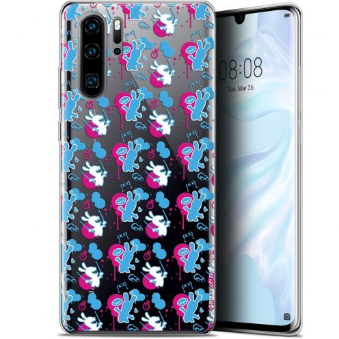 """Gel Huawei P30 Pro (6.47"""") Case Lapins Crétins™ Rugby Pattern"""