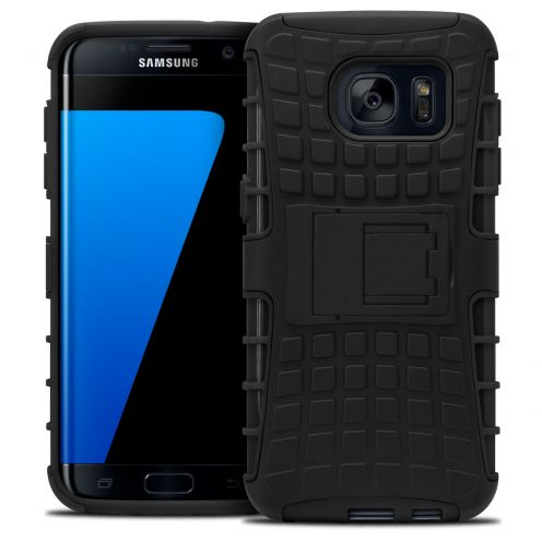 "Shockproof Shell Case ""Spider"" Clubcase ® Samsung Galaxy S7 Edge Black"