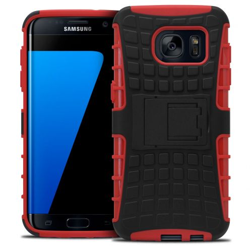 "Shockproof Shell Case ""Spider"" Clubcase ® Samsung Galaxy S7 Edge Red"