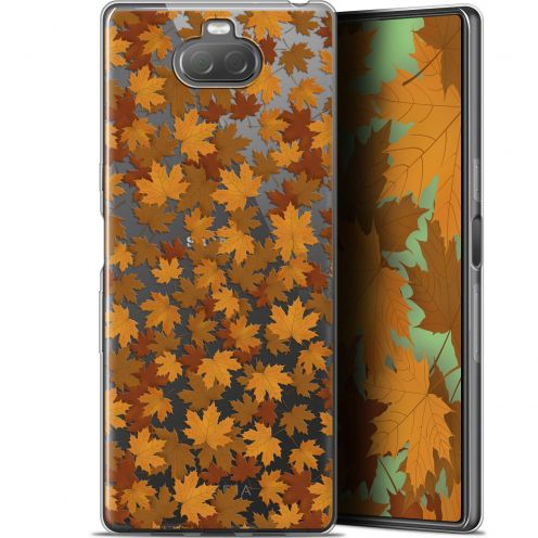 "Extra Slim Gel Sony Xperia 10 (6"") Case Autumn 16 Feuilles"
