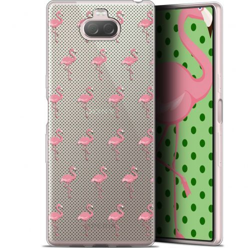 "Extra Slim Gel Sony Xperia 10 (6"") Case Pattern Les flamants Roses Dots"