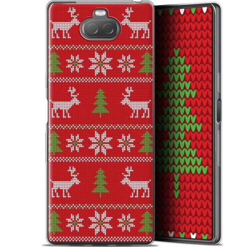 """Extra Slim Gel Sony Xperia 10 (6"""") Case Noël 2017 Couture Rouge"""