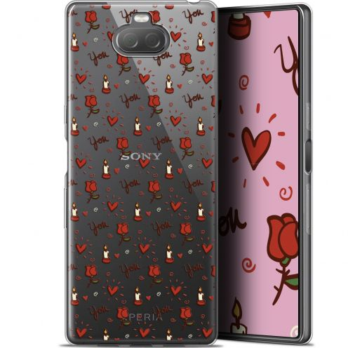 "Extra Slim Gel Sony Xperia 10 (6"") Case Love Bougies et Roses"