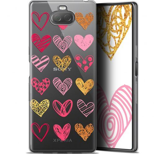 "Extra Slim Gel Sony Xperia 10 (6"") Case Sweetie Doodling Hearts"