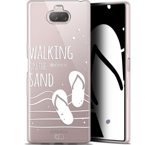 "Extra Slim Gel Sony Xperia 10 (6"") Case Summer Walking on the Sand"