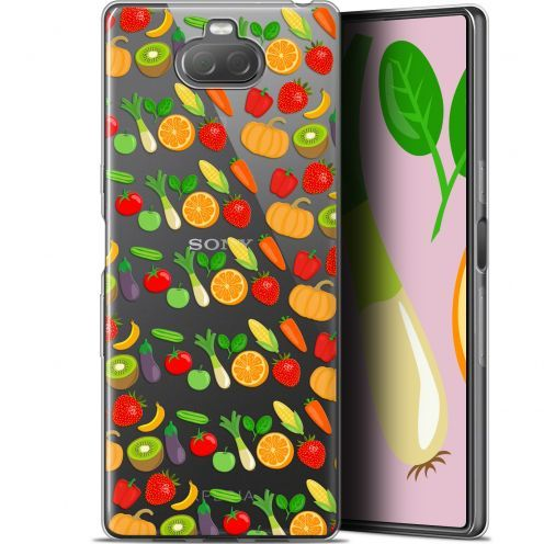 "Extra Slim Gel Sony Xperia 10 (6"") Case Foodie Healthy"
