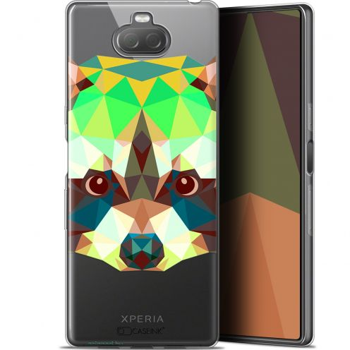 "Extra Slim Gel Sony Xperia 10 (6"") Case Polygon Animals Raton Laveur"