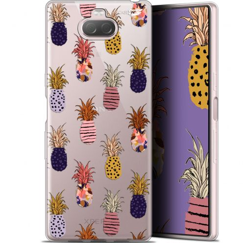 "Extra Slim Gel Sony Xperia 10 (6"") Case Design Ananas Gold"