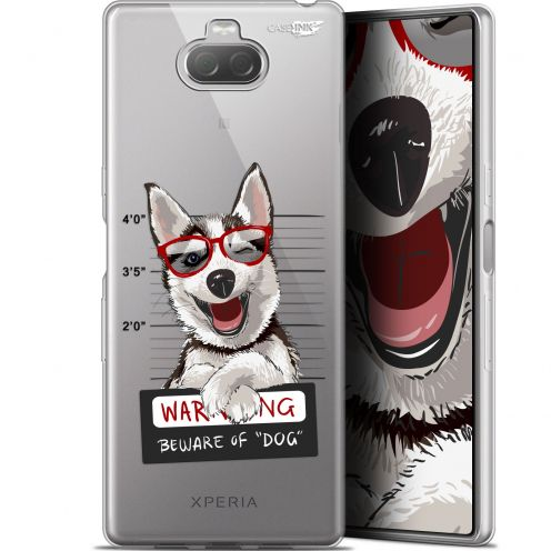 "Extra Slim Gel Sony Xperia 10 (6"") Case Design Beware The Husky Dog"