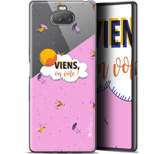"Extra Slim Gel Sony Xperia 10 (6"") Case Petits Grains® VIENS, On Vole !"