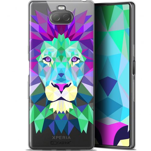 "Extra Slim Gel Sony Xperia 10 Plus (6.5"") Case Polygon Animals Lion"