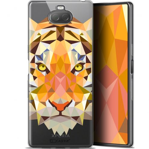 "Extra Slim Gel Sony Xperia 10 Plus (6.5"") Case Polygon Animals Tiger"