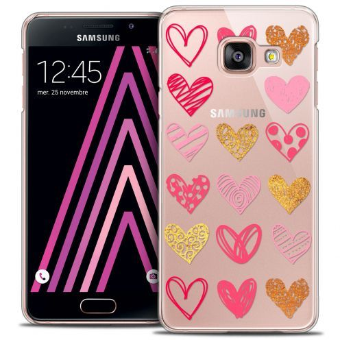 Extra Slim Crystal Galaxy A3 2016 (A310) Case Sweetie Doodling Hearts