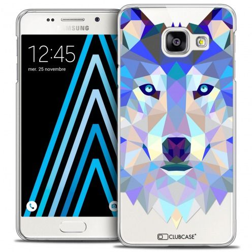 Extra Slim Crystal Galaxy A3 2016 (A310) Case Polygon Animals Wolf