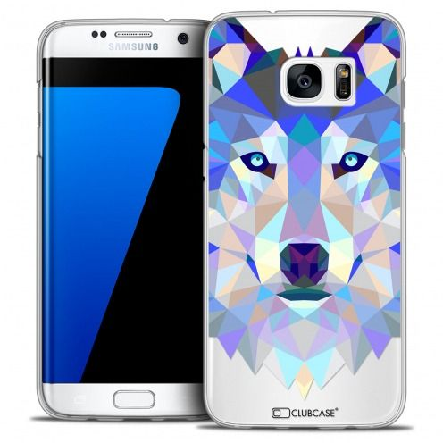 Extra Slim Crystal Galaxy S7 Edge Case Polygon Animals Wolf