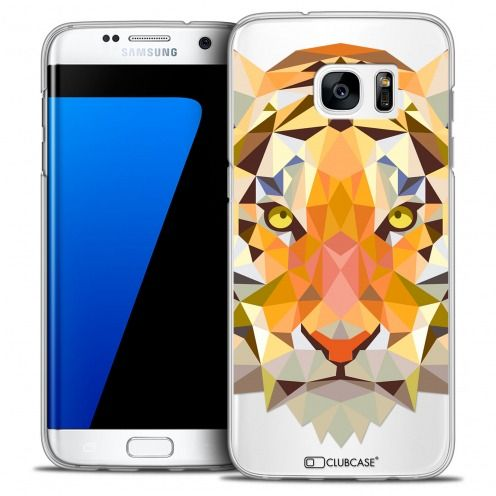 Extra Slim Crystal Galaxy S7 Edge Case Polygon Animals Tiger