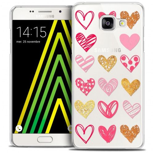 Extra Slim Crystal Galaxy A5 2016 (A510) Case Sweetie Doodling Hearts