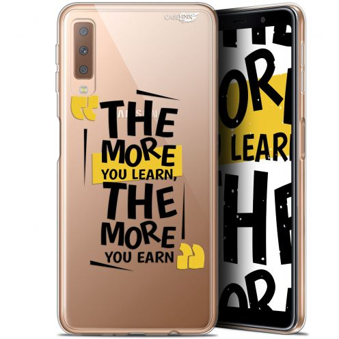 """Extra Slim Gel Samsung Galaxy A7 2018 (A750) (6"""") Case Design The More You Learn"""