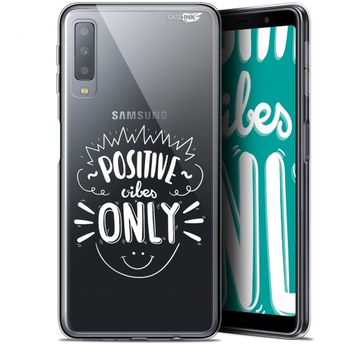"""Extra Slim Gel Samsung Galaxy A7 2018 (A750) (6"""") Case Design Positive Vibes Only"""