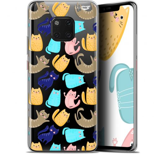 "Extra Slim Gel Huawei Mate 20 Pro (6.39"") Case Design Chat Danse"
