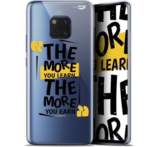 """Extra Slim Gel Huawei Mate 20 Pro (6.39"""") Case Design The More You Learn"""