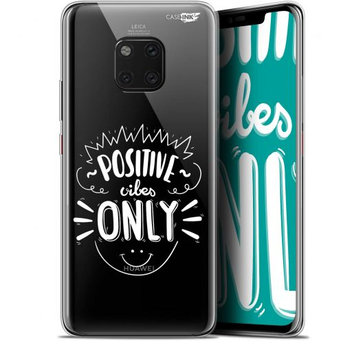 """Extra Slim Gel Huawei Mate 20 Pro (6.39"""") Case Design Positive Vibes Only"""