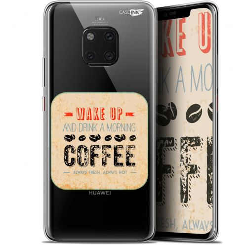 """Extra Slim Gel Huawei Mate 20 Pro (6.39"""") Case Design Wake Up With Coffee"""