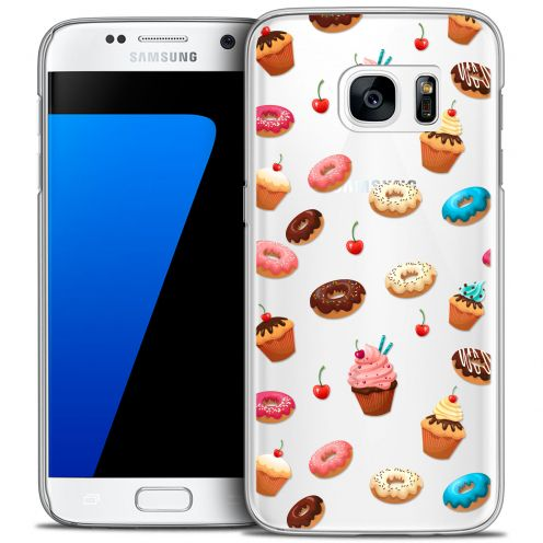 Extra Slim Crystal Galaxy S7 Case Foodie Donuts