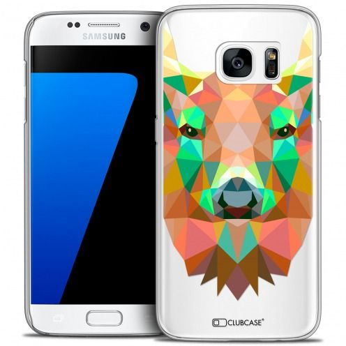 Extra Slim Crystal Galaxy S7 Case Polygon Animals Deer