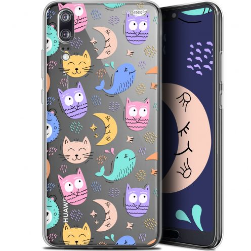 "Extra Slim Gel Huawei P20 (5.8"") Case Design Chat Hibou"
