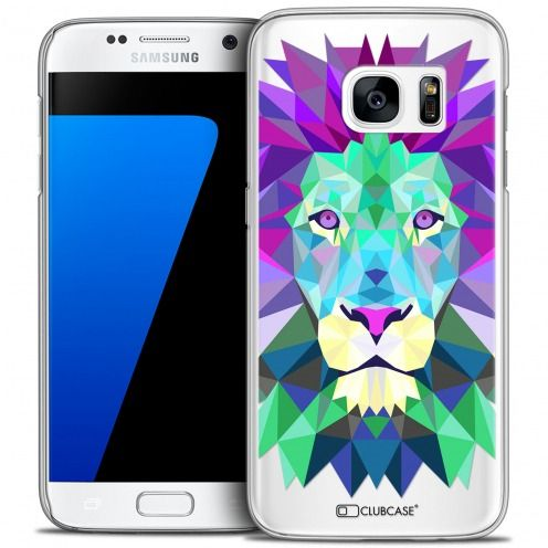 Extra Slim Crystal Galaxy S7 Case Polygon Animals Lion