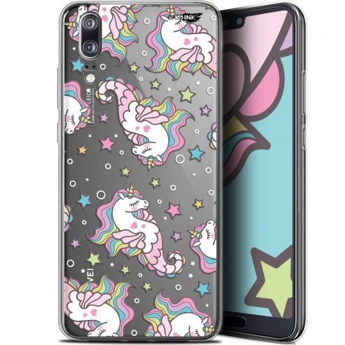 "Extra Slim Gel Huawei P20 (5.8"") Case Design Licorne Dormante"