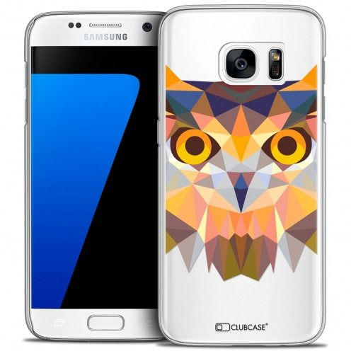 Extra Slim Crystal Galaxy S7 Case Polygon Animals Owl