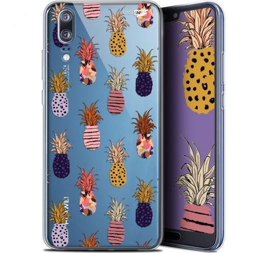 "Extra Slim Gel Huawei P20 (5.8"") Case Design Ananas Gold"