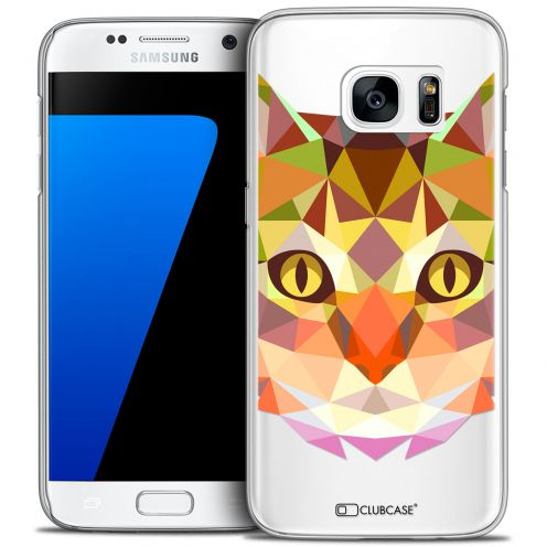 Extra Slim Crystal Galaxy S7 Case Polygon Animals Cat