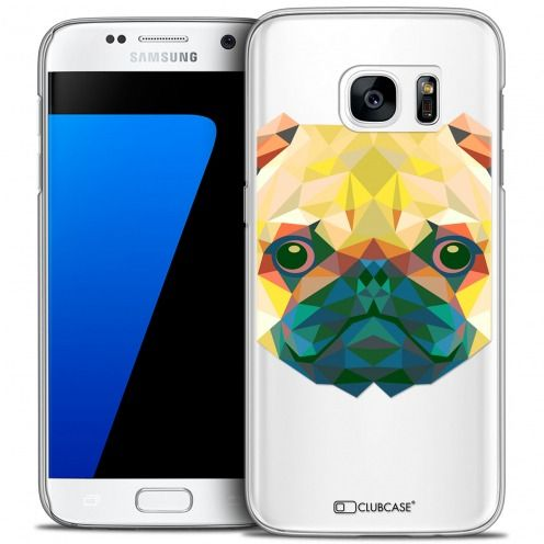Extra Slim Crystal Galaxy S7 Case Polygon Animals Dog