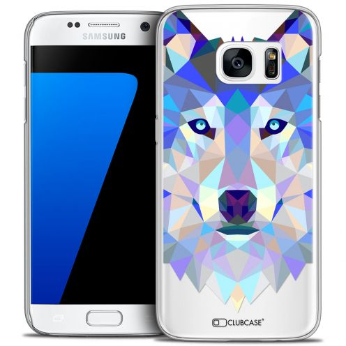 Extra Slim Crystal Galaxy S7 Case Polygon Animals Wolf