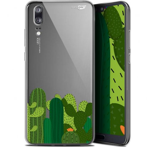 "Extra Slim Gel Huawei P20 (5.8"") Case Design Cactus"